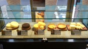 Les gâteaux en vitrine