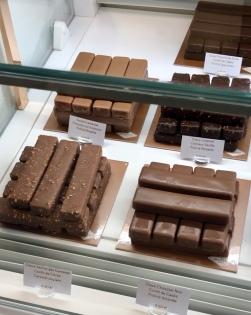 Barres chocolatées glacées