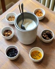Frozen yogurt et toppings